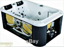 2 PERSON HOT TUB SPA INDOOR Hydrotherapy 31 Jet 2 Loungers 220v Inside Cover New