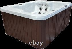 2 Person Outdoor Whirlpool Spa Hot Tub with 25 Jets with Waterfall and LED Light