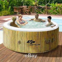 4 Person Home Use Inflatable Hot Outdoor Jets Portable Heated Bubble Massage Spa