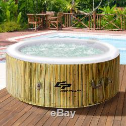 4 Person Inflatable Hot Tub Outdoor Jets Portable Heated Bubble Massage Spa New