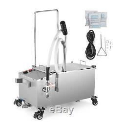 58L Fryer Oil Filter Machine 116lb Oil Capacity 15.3 gal with Stainless Steel Lid