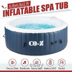 6.8ft Inflatable Spa Tub with Heater and 140 Massaging Jets for Patio & More