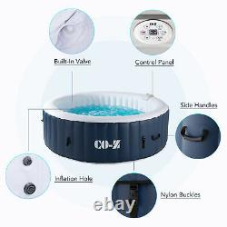 6-Person Inflatable Hot Tub w 140 Jets and Air Pump for Patio Backyard and More