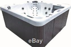 6 Person Outdoor Whirlpool Lounger Spa Hot Tub with 67 Therapy Stainless St Jets