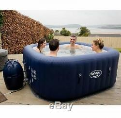 6-Person Portable Inflatable Spa Hot Tub Jacuzzi Massage Bubble AirJet Outdoor