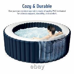 6'x6' Inflatable Spa Tub Portable Jacuzzi with 120 Jets & Air Pump Ideal for 4