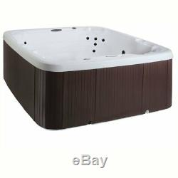 7-Person Jacuzzi Bubble Massager Hot Tub 22-Jet Plug & Play Spa Waterfall Cover