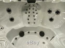 8 Person Outdoor Whirlpool Spa Hot Tub with 58 Therapy Stainless Steel Jets