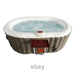 ALEKO Oval Inflatable Hot Tub Spa With Drink Tray and Cover 2 Person 145 Gallon