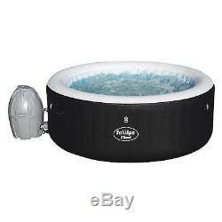 Bestway 54124 SaluSpa 4-Person Round Inflatable Hot Tub Spa with Pump (Used)
