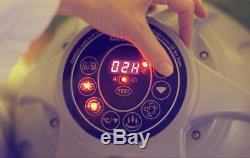Bestway Lay-Z-Spa Paris 6 Person LED Inflatable Round Heated Hot Tub White