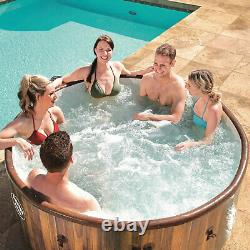 Bestway SaluSpa Helsinki 7 Person Portable Inflatable Hot Tub AirJet Spa with Pump