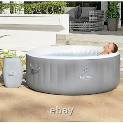 Bestway St. Lucia 67x26 SaluSpa AirJet Inflatable Hot Tub, Gray (Open Box)