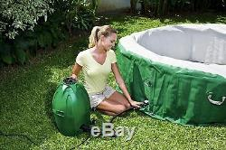 Brand New Coleman SaluSpa Inflatable Hot Tub Spa Green & White In Hand