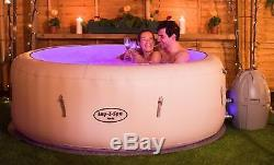 Brand New Lay -Z-Spa Paris Hot Tub with LED Lights Airjet Inflatable 4-6 Person