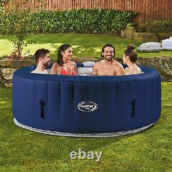 CleverSpa Tahoe 800 Liter 70 inch 4 Person Inflatable Round Hot Tub Spa, Blue