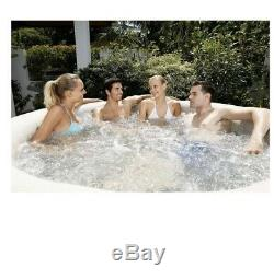 Coleman Lay-z Inflatable Massage Outdoor Portable Spa Hot Tub for 4 to 6 People