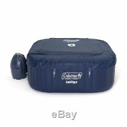 Coleman SaluSpa 4 Person Square Portable Inflatable Outdoor Hot Tub Spa (Used)
