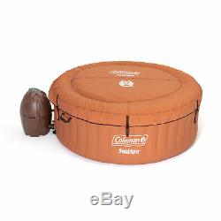 Coleman SaluSpa Miami Air Jet 4 Person Inflatable Hot Tub Spa with Pump(For Parts)