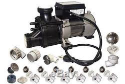 Conversion assembly CHROME kit BATHTUB to WHIRLPOOL JETTED TUB with Genesis pump