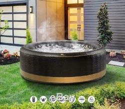 EXOTIC Family Inflatable Hot Tub 4/6 Person Portable Spa/Cover Jacuzzi Holiday