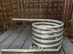 Extra wide heater coil with 2 x 2m heat-resistant hose 32mm tube stainless steel