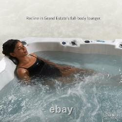 Grand Estate 90-Jet Hot Tub Acrylic Spa Jacuzzi Sterling Silver