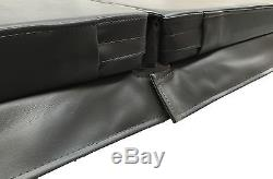 Grey 84'' x 84'' Hot Tub Cover with Full Heat Lock Technology