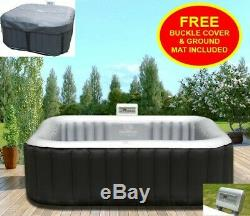 Heated Hot Tub Jacuzzi Spa Outdoor Garden Inflatable Mspa 4 Seater Person\
