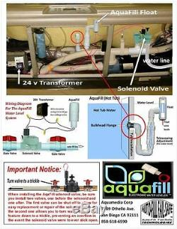 Hot Tub Auto Fill Electronic Water Leveler by AquaFill Complete Kit- Made USA