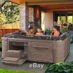 Hot Tub Fits 5-6 People Grand Estate 90-Jet Acrylic Spa Bluetooth sound system