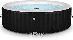 Hot Tub Jacuzzi Large 6 Person Heat and Bubble SPA Filter Digital Control Black