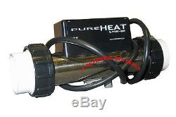 Hydroquip PURE HEAT bath heater in-line 1.5kw 120V with pressure switch & NEMAcord