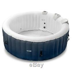 Inflatable Hot Tub 2-4 Person Blow Up Portable Spa w Heater & Bubble Jets