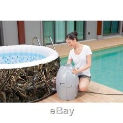 Inflatable Hot Tub 4 Person Portable Spa Jacuzzi Massage Above Ground Pool