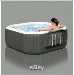 Inflatable Hot Tub Jacuzzi Spa 4 Person Portable Massage Jets Portable with Cover