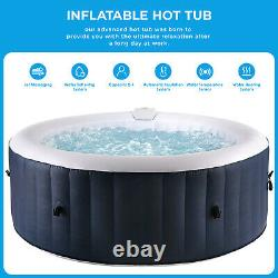 Inflatable Hot Tub Portable Spa Jacuzzi Built in Heater withPump & Cover 4 Person