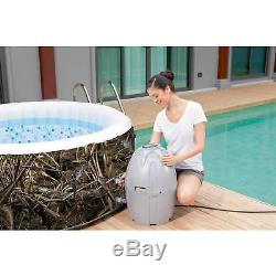 Inflatable Hot Tub Spa MAX-5 AirJet 4-Person Portable Realtree Patio Garden LED