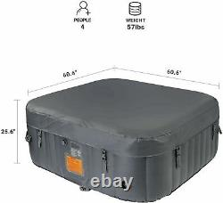 Inflatable Spa Hot Tub 4 Person With Cover, Pump, Filter, Bubbles & Heater