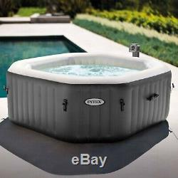Intex 120 Bubble Jets 4-Person Octagonal Inflatable Hot Tub Spa Same Day Ship