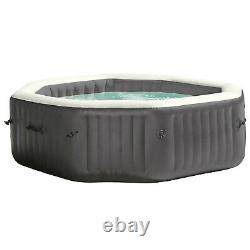 Intex 140 Bubble Jets 6-Person Octagonal Portable Inflatable Hot Tub Spa 28437WL