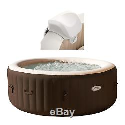 Intex 28403VM Pure Spa 4-Person Inflatable Heated Hot Tub And Soft Foam Headrest