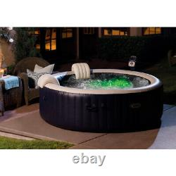 Intex 28409E PureSpa Portable Bubble Jets Spa 6 Seater Inflatable Round Hot Tub