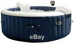 Intex 28430 Pool Hydro Massage Pure Spa plus cm 196x71 with Pump Filter Cover