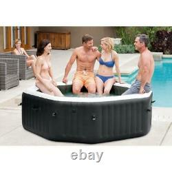 Intex 79 X 28 PureSpa Jet and Bubble Deluxe Inflatable Spa Set, 4-Person