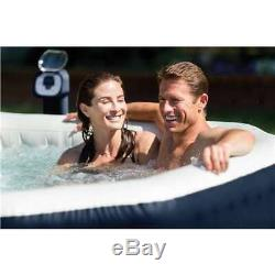 Intex PureSpa 4 Person Inflatable Bubble Massage Hot Tub and Pool (Open Box)