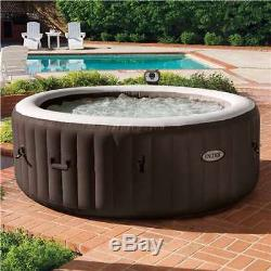 Intex PureSpa 4-Person Inflatable Bubble Spa Heated Hot Tub, Brown (For Parts)