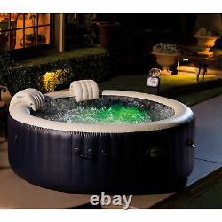 Intex PureSpa 4 Person Inflatable Portable Round Hot Tub and Drink Holder Tray