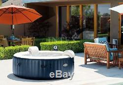 Intex PureSpa 6 Person Hot Tub, No Slip Seat, Pillow, Cup Holder, and Drink Tray