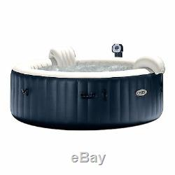 Intex PureSpa 6 Person Outdoor Hot Tub with Headrest, Cup Holder and Drink Tray